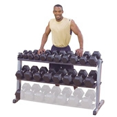 Body Solid Hexagon Rubberized Dumbbells (GEN-HDR series)